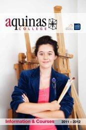 Information & Courses 2011 – 2012 - Aquinas College