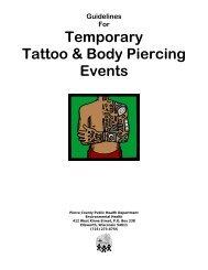 Temporary Body Art Facility Guidelines - Pierce County