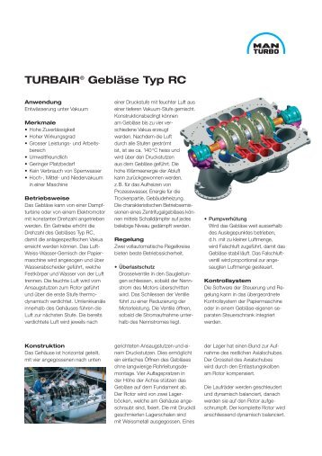TURBAIR® Gebläse Typ RC - MAN Diesel & Turbo SE