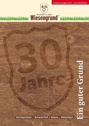 Wiesengrund Hausprospekt & Speisekarte (PDF)