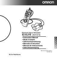 Instruction Manual - Omron Healthcare