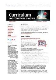 Curriculum Coordinators News: Edition 1 2013 - Australian ...