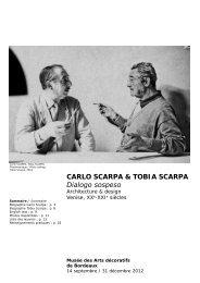 Carlo Scarpa, Tobia Scarpa : Dialogo sospeso au ... - Bordeaux