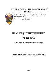 buget şi trezorerie publică - Facultatea de Stiinte Economice si ...