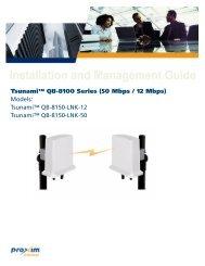 Tsunami™ QB-8100 Series (50 Mbps / 12 Mbps)