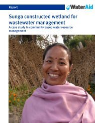Sunga constructed wetland for wastewater management