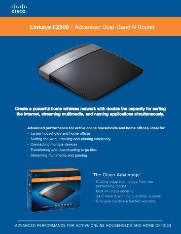 Linksys E2500 | Advanced Dual-Band N Router - Sputnik