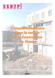 L'emploi intérimaire p dans le secteur de la Construction en Alsace