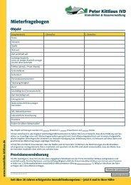 Mieterfragebogen 2012