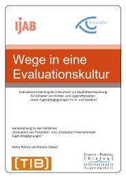 Wege in eine Evaluationskultur - Freizeitenevaluation