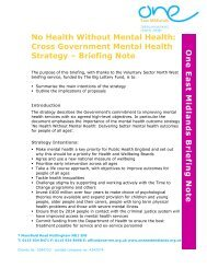 No Health Without Mental Health - One East Midlands