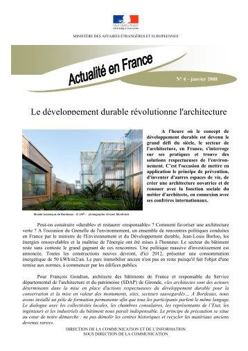 Le développement durable révolutionne l'architecture