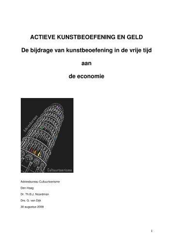 ACTIEVE KUNSTBEOEFENING EN GELD De bijdrage van ...