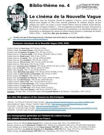 Le cinéma de la Nouvelle Vague
