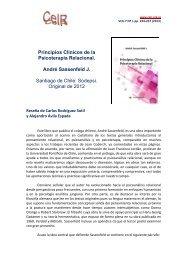 Principios Clínicos de la Psicoterapia Relacional. André Sassenfeld ...