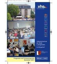 Leitbild der VHS (Kurzfassung) - Volkshochschule