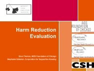 Evaluation Tools - Corporation for Supportive Housing