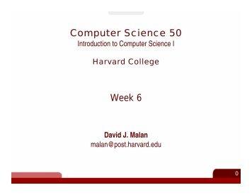 Computer Science 50 Week 6