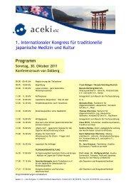 Kongressprogramm Sonntag, 30. Oktober 2011 - Kongress zur ...
