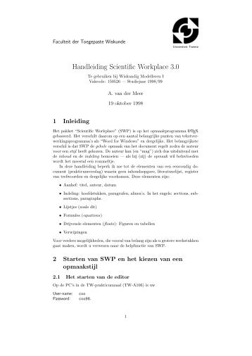 pdf-file - Toegepaste Wiskunde intro - Universiteit Twente
