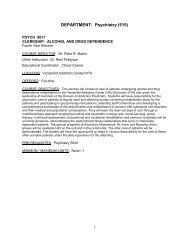 DEPARTMENT: Psychiatry (515) - Vanderbilt School of Medicine