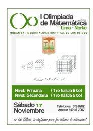 I CONCURSO DE MATEMATICA OLIVENSE - Los Olivos