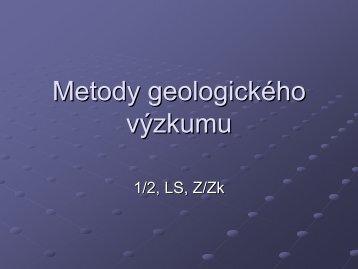Základy geologického mapování - Katedra geologie UP