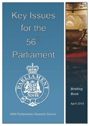Key Issues for the 56th Parliament