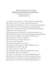 Stokes County Regiment Roster