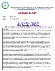 ACTION ALERT Confirm Tom Perez As U.S. Secretary Of Labor