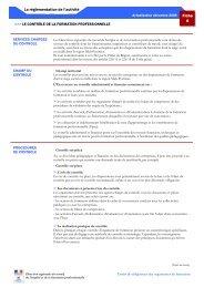 Le contrôle de la formation professionnelle - Carif Oref Midi-Pyrénée