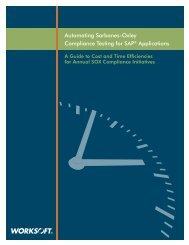 Automating Sarbanes-Oxley Compliance Testing for ... - Worksoft, Inc.