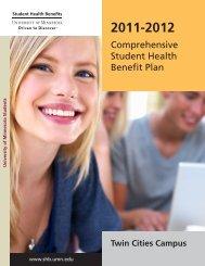 2011-2012 Full Benefits Summary - Office of Student Health Benefits