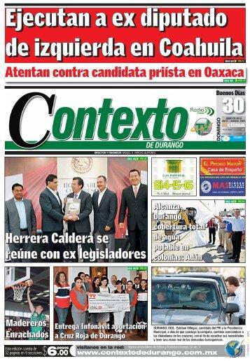 30/06/2013 - Contexto de Durango