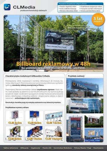 Billboard reklamowy w 48h
