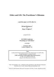 Ethics and GIS: The Practitioner's Dilemma - Spatial Information ...