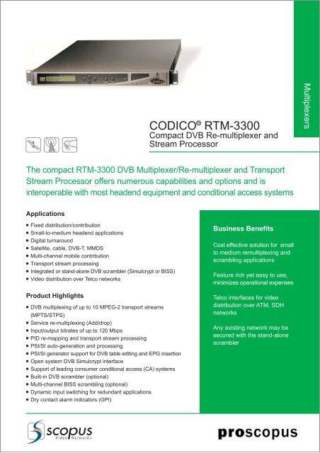CODICO RTM-3300 - TBC Integration