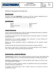 PRODUCTO: BLOQUE DE TRICLORO 500 ... - AstralPool