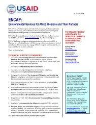 """about ENCAP"" factsheet - USAID: Africa Bureau: Office of ..."