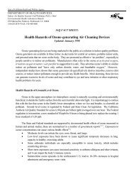 Health Hazards of Ozone-generating Air Cleaning Devices