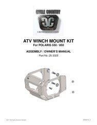 owners manual cc25-3310 - winch mount kit pol - Schuurman B.V.