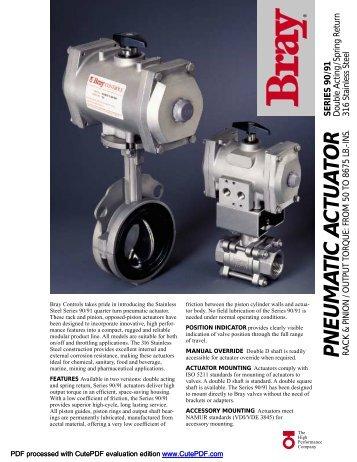 Bray Series 90-91 SS Pneumatic Actuator - Pushkarnasales.com