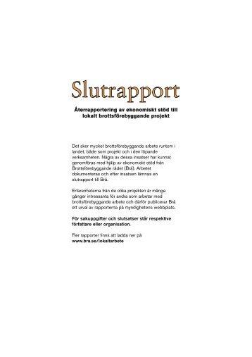 Läs slutrapport från Landskrona kommun - Brottsförebyggande rådet