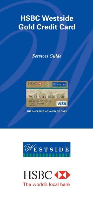 the shopping advantage card - HSBC
