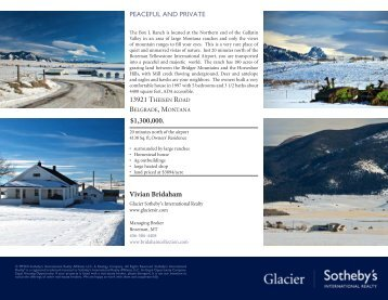 Download printable brochure - Home Glacier Sotheby's International ...