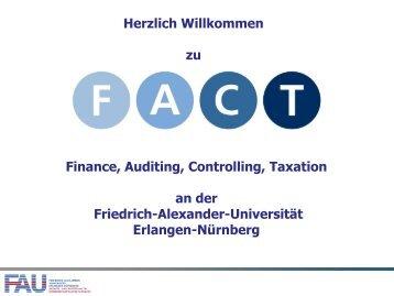 Klausurtermin im WiSe 2012-13 - FACT- Finance Auditing ...