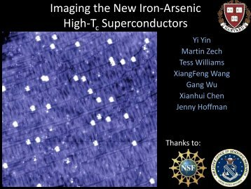 Imaging the New Iron-Arsenic High-T Superconductors ... - Hoffman