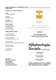 Oftalmologia Sociale - Agenzia internazionale per la prevenzione ...