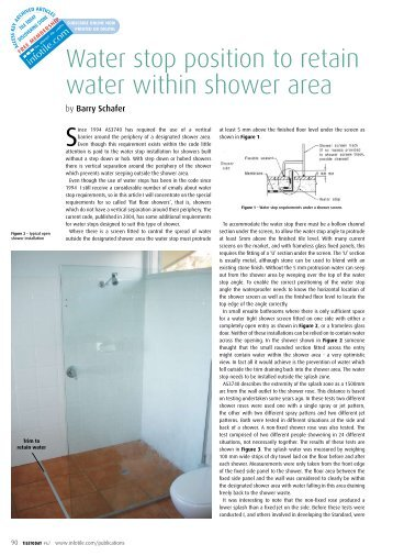 Water stop position to retain water within shower area - Infotile