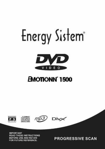 benutzung der fernbedienung - Energy Sistem